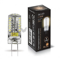 Лампа Gauss LED GY6.35 AC185-265V 3W 2700K 1/20/200 107719103