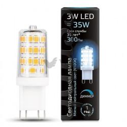 Лампа Gauss LED G9 AC185-265V 3W 4100K 1/20/200 диммируемая 107309203