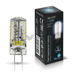 Лампа Gauss LED GY6.35 AC185-265V 3W 4100K 1/20/200 107719203