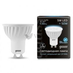 Лампа Gauss LED LENS MR16 GU10 5W 4100K 101506205