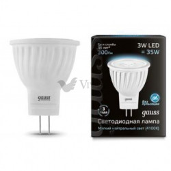 Лампа Gauss LED MR11 3W GU4 4100K FR 132517203