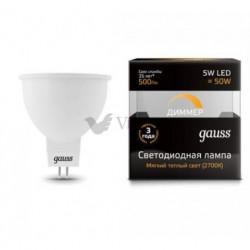 Лампа Gauss LED MR16 GU5.3 5W 3000K DIMM 101505105-D