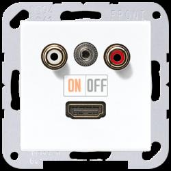 Розетка HDMI/RCA, цвет Белый, A500, Jung