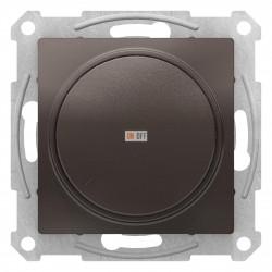 Диммер поворотно-нажимной , 600Вт для ламп накаливания, Мокко, серия Atlas Design, Schneider Electric