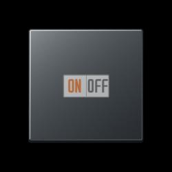 Выключатель 1-клавишный; кнопочный, цветАнтрацит (матовый),A500,Jung