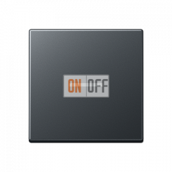 Выключатель 1-клавишный , с подсветкой, цветАнтрацит (матовый),A500,Jung