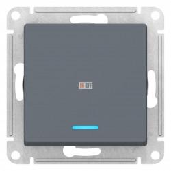 Выключатель 1-клавишный ,проходной с индикацией (с двух мест), Грифель, серия Atlas Design, Schneider Electric