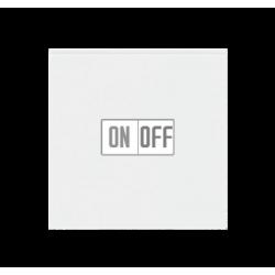 Выключатель 1-клавишный, цвет Белый/Белый, Levit, ABB