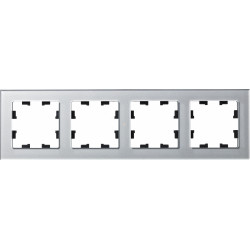 Рамка 4-ая (четверная), Стекло Алюминий, серия Atlas Design Nature, Schneider Electric