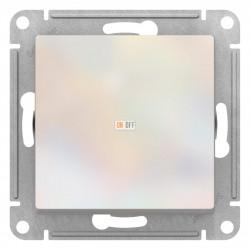 Выключатель 1-клавишный ,проходной (с двух мест), Жемчуг, серия Atlas Design, Schneider Electric