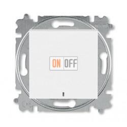 Выключатель 1-клавишный , с подсветкой, цвет Белый/Ледяной, Levit, ABB