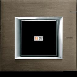 Рамка 1-ая (одинарная) прямоугольная, цвет Бронза, Axolute, Bticino
