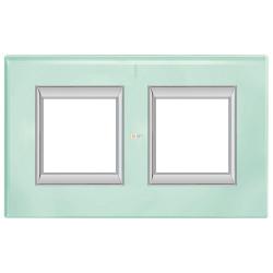 Рамка 2-ая (двойная) прямоугольная, цвет Кристалл, Axolute, Bticino