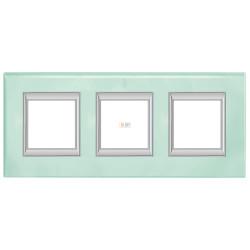 Рамка 3-ая (тройная) прямоугольная, цвет Кристалл, Axolute, Bticino