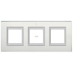 Рамка 3-ая (тройная) прямоугольная, цвет Стекло Матовое, Axolute, Bticino