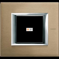 Рамка 1-ая (одинарная) прямоугольная, цвет Титан, Axolute, Bticino