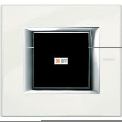 Рамка 1-ая (одинарная) прямоугольная, цвет Фарфор, Axolute, Bticino