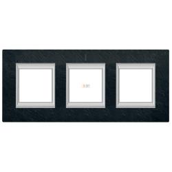 Рамка 3-ая (тройная) прямоугольная, цвет Черный мрамор Ардезия, Axolute, Bticino
