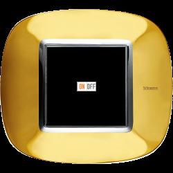 Рамка 1-ая (одинарная) эллипс, цвет Золото, Axolute, Bticino