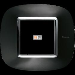 Рамка 1-ая (одинарная) эллипс, цвет Темный металлик, Axolute, Bticino