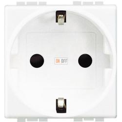 Розетка 1-ая электрическая , с заземлением (винтовой зажим), цвет Белый, LivingLight, Bticino