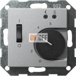 Терморегулятор для теплого пола (оригинальный), цвет Алюминий, Gira