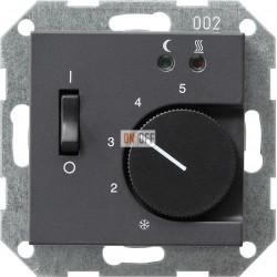 Терморегулятор для теплого пола (оригинальный), цвет Антрацит, Gira