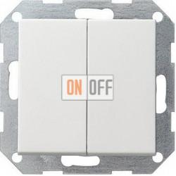 Выключатель 2-клавишный; кнопочный, цвет Белый, Gira
