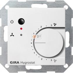 Электронный гигростат, цвет Белый, Gira