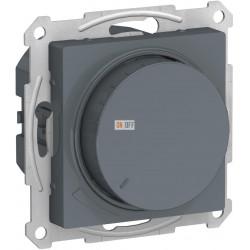 Диммер поворотно-нажимной , 600Вт для ламп накаливания, Грифель, серия Atlas Design, Schneider Electric