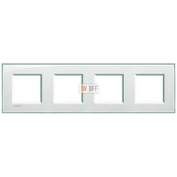 Рамка 4-ая (четверная) прямоугольная, цвет Морская вода, LivingLight, Bticino