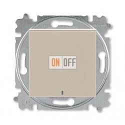 Выключатель 1-клавишный ,проходной с подсветкой (с двух мест), цвет Макиато/Белый, Levit, ABB
