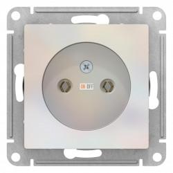 Розетка 1-ая электрическая без заземления, Жемчуг, серия Atlas Design, Schneider Electric