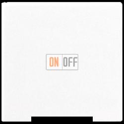 Выключатель 1-клавишный; кнопочный , цвет Белый, A500, Jung