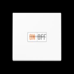 Выключатель 1-клавишный ,проходной с подсветкой (с двух мест), цвет Белый, A500, Jung