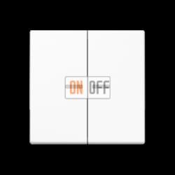 Выключатель 2-клавишный , с подсветкой, цвет Белый, A500, Jung
