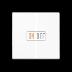 Выключатель 2-клавишный проходной (с двух мест), цвет Белый, A500, Jung