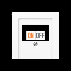 Розетка аудио для колонок 2-ая, цвет Белый, A500, Jung
