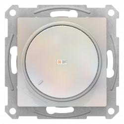 Диммер поворотно-нажимной , 600Вт для ламп накаливания, Жемчуг, серия Atlas Design, Schneider Electric