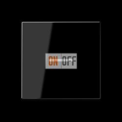 Выключатель 1-клавишный ,проходной с подсветкой (с двух мест), цвет Черный, A500, Jung