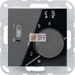 Терморегулятор для теплого пола (Eberle), цвет Черный, A500, Jung