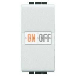 Установочный выключатель 1-клавишный 1 мод Axial, цвет Белый, LivingLight, Bticino