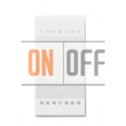 Установочный выключатель 1-клавишный 1 мод (винтовые клеммы), цвет Белый, LivingLight, Bticino