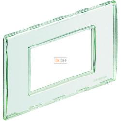 Рамка итальянский стандарт 3 мод прямоугольная, цвет Kristall, LivingLight, Bticino