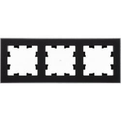Рамка 3-ая (тройная), Стекло Черное, серия Atlas Design Nature, Schneider Electric