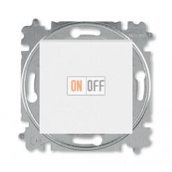Выключатель 1-клавишный; кнопочный с двух мест, цвет Белый/Ледяной, Levit, ABB