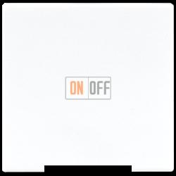 Выключатель 1-клавишный; кнопочный , цвет Белый, LS990, Jung