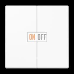 Выключатель 2-клавишный проходной (с двух мест), цвет Белый, LS990, Jung