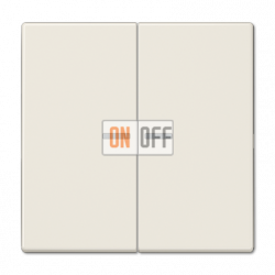 Выключатель 2-клавишный , с подсветкой, цвет Бежевый, LS990, Jung