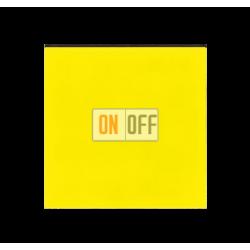Выключатель 1-клавишный, цвет Желтый/Дымчатый черный, Levit, ABB